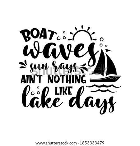 boat waves sun rays ain't