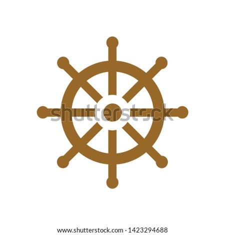 boat wheel icon. flat illustration of boat wheel vector icon for web