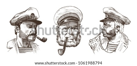boatswain with pipe. portrait...