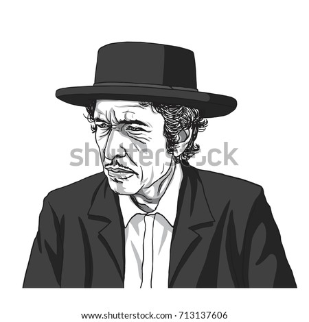 bob dylan vector illustration