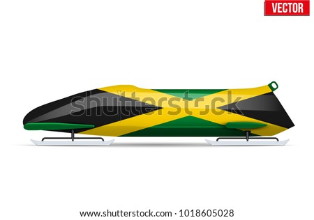 bob sleighs with jamaica flag