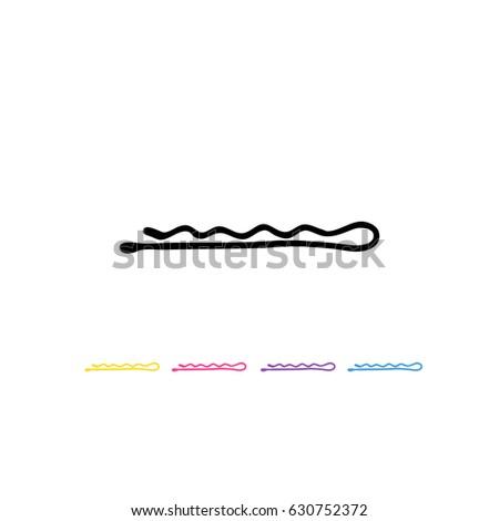 bobby pin (hair pin) doodle icon Stockfoto ©