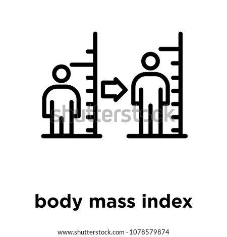body mass index icon isolated on white background, vector illustration, body mass index logo concept