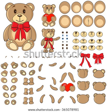 body parts of a bear in the