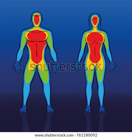 body warmth thermogram of male