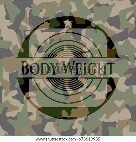 body weight camouflage emblem