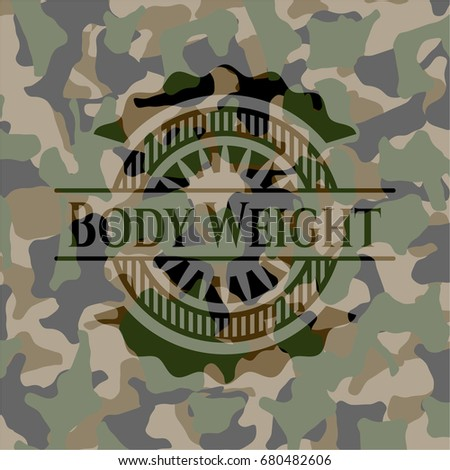 body weight camouflaged emblem