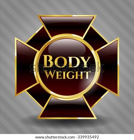Body Weight gold shiny emblem