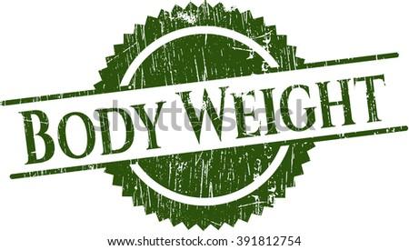Body Weight grunge style stamp