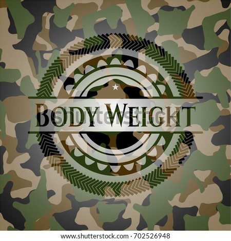 body weight on camo pattern