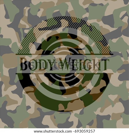 body weight on camo texture