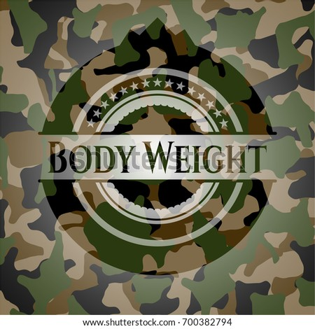 body weight on camouflaged
