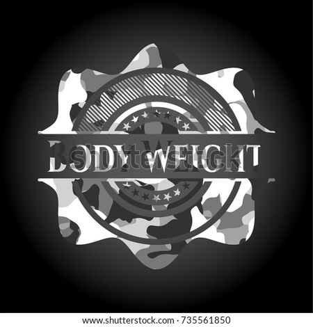 body weight written on a grey