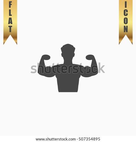 bodybuilder fitness model flat