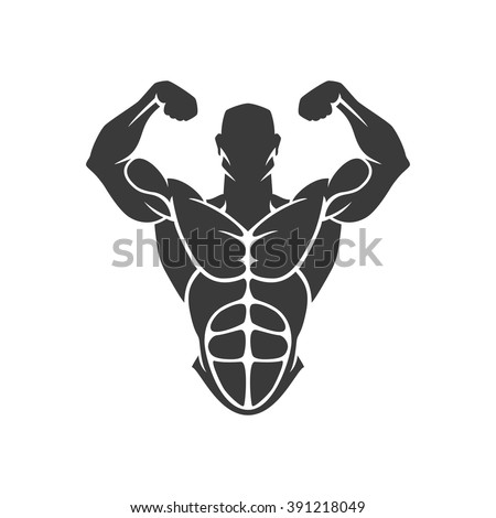 bodybuilder logo template