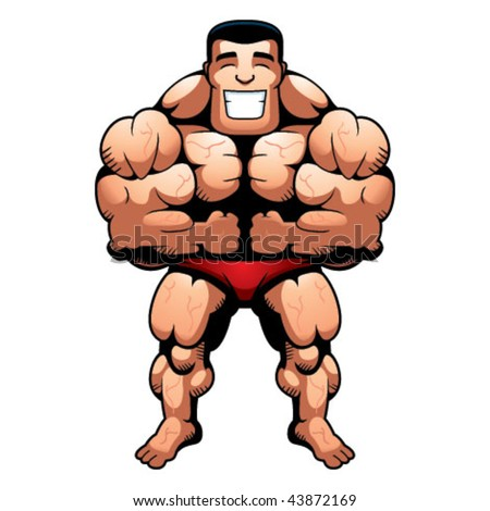 Bodybuilder Muscles - stock vector