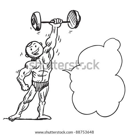 Bodybuilder speaking something