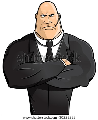 cartoon bodyguards