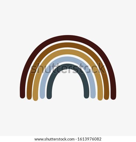 Bohemian rainbow illustration for children