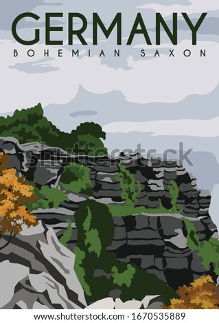 bohemian saxon germany vector