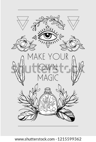 2b7f4def Boho chic style design for cards, posters, flyers, t-shirts. Tribal