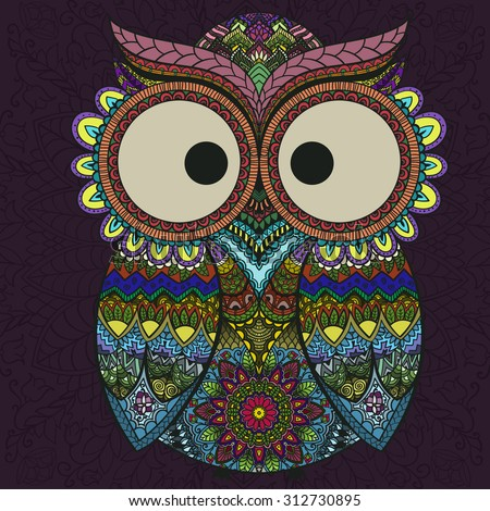 boho ornamental owl