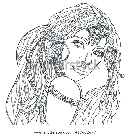 indian and wolf coloring pages - photo#36