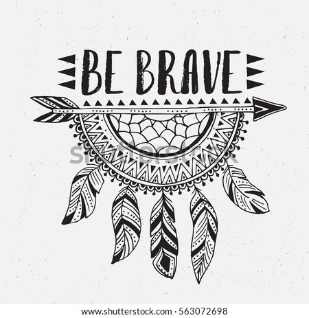 Boho Template With Inspirational Quote Lettering