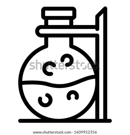 Boiling chemical flask icon. Outline boiling chemical flask vector icon for web design isolated on white background