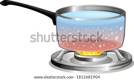 Boiling water in the pot illustration Сток-фото ©
