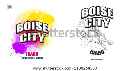 boise city  idaho  logo design. ...