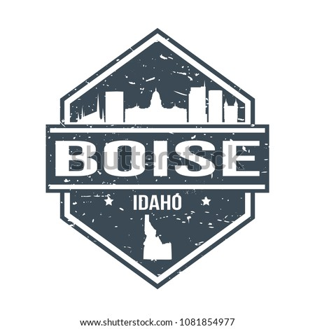 boise idaho travel stamp icon...