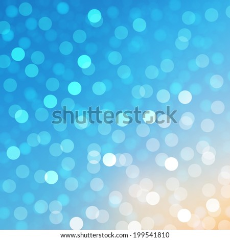 bokeh and lens flare pattern on blue sky background (vector)