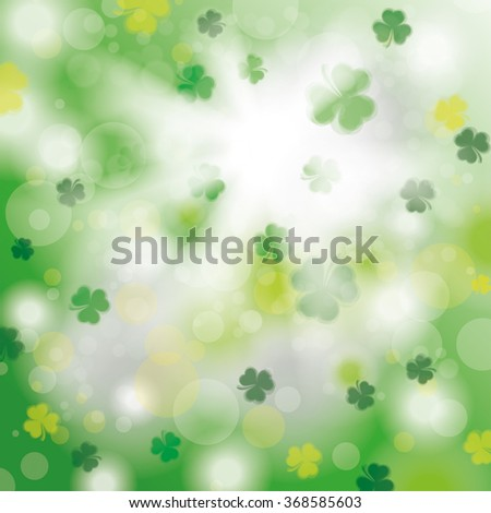 bokeh of green shamrocks with
