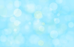 Bokeh on the blue background. Vector blur abstract texture with lot of bubble