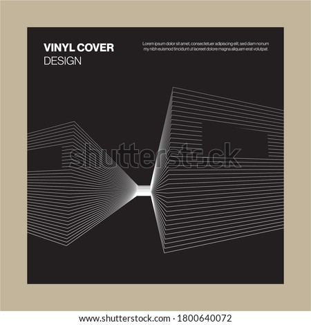 Bold Black and White BW Album Cover Design with minimalist building design element for cover music album thumbnail spotify modern vibes lines architectural Masculine
