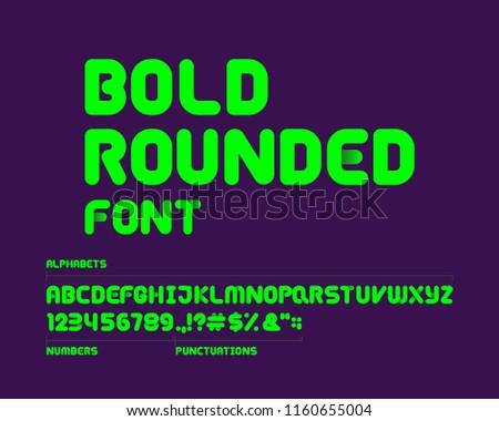 Bold rounded font set