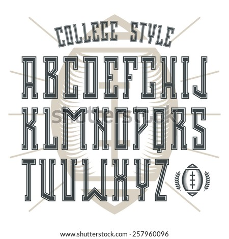 College Font Free Vector Art - (123 Free Downloads)