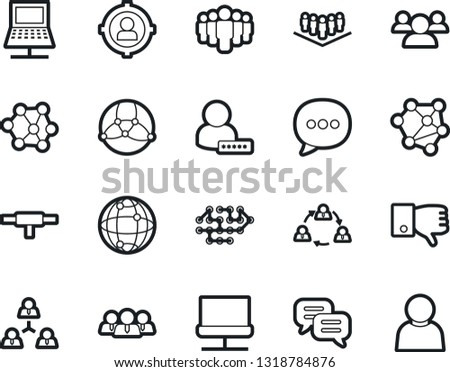 Bold Stroke Vector Icon Set - company vector, finger down, user sign in, neural network, staff, target audience, team, dialog, connect, connection, notebook #1318784876