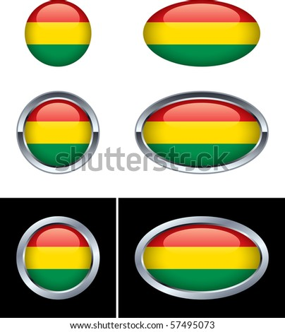 Bolivian Flag Buttons