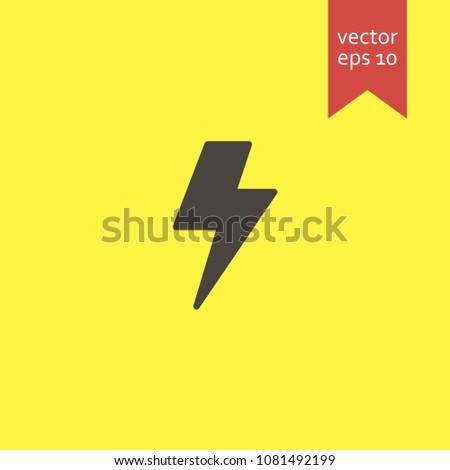 bolt. bolt icon. sign design. Vector EPS 10