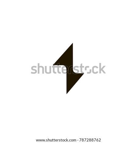 bolt icon. sign design #787288762