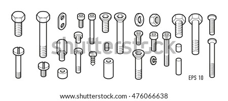 Bolts and female screws or nuts