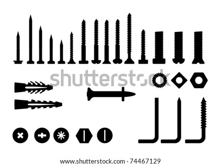 Bolts, screws and nuts