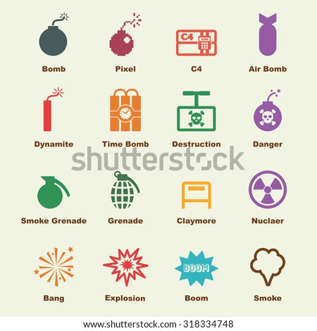 bomb elements  vector
