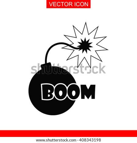 bomb icon bomb icon vector