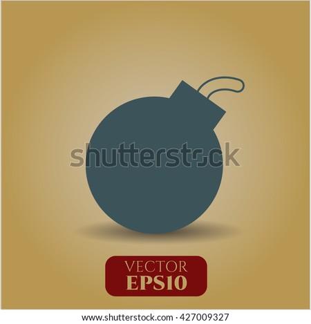 bomb icon vector symbol flat