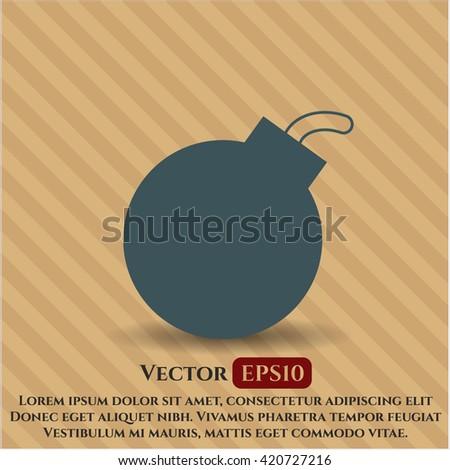 bomb vector icon