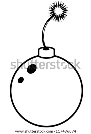 Bomb white - stock vector