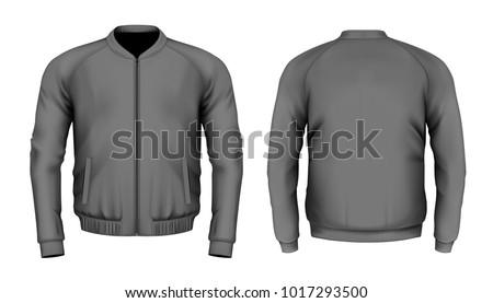 bomber jacket in black front